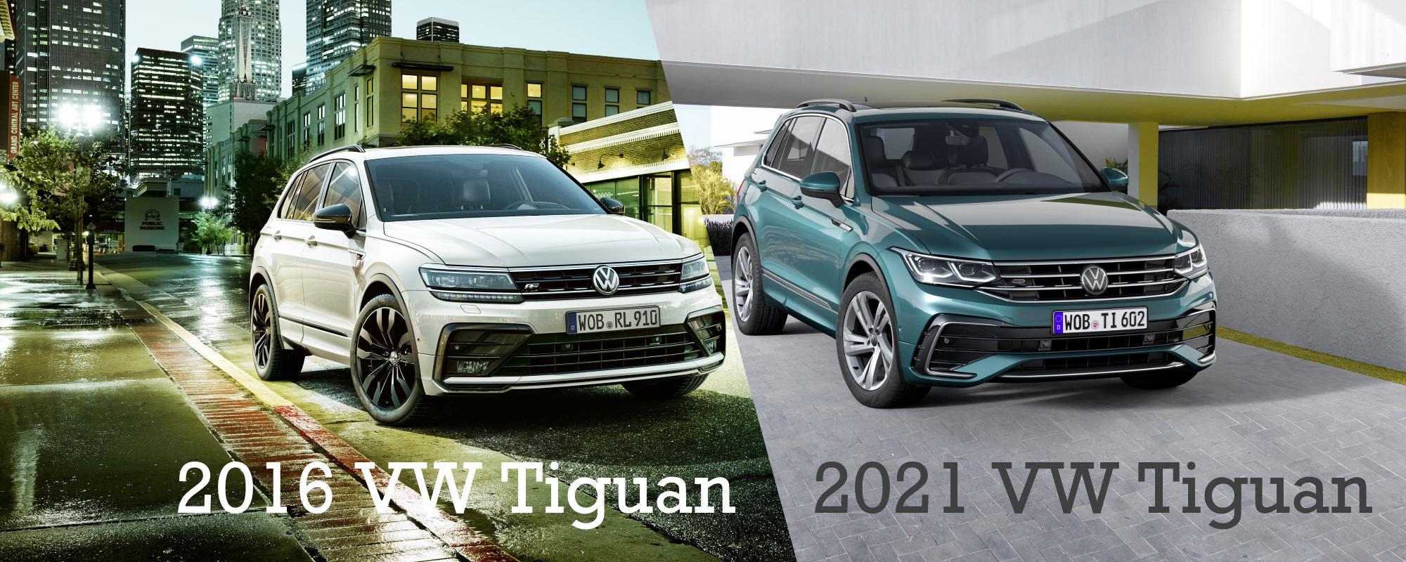 VERGLEICH: 2016 vs. 2021 VW Tiguan - autofilou
